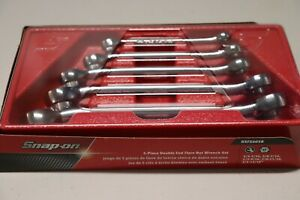 Snap On 6 Point Sae Flank Drive Double End Flare Nut Wrench Set Rxfs605b