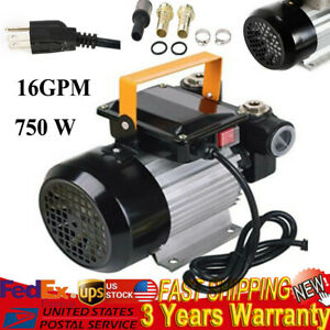 750w 16gpm Commercial Electric Oil Pump Self Priming Transfer Fuel 110v Usa