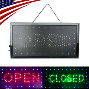 Useful Bright Led Open Closed Store Shop Business Sign 9 8 20 47 Display Neon