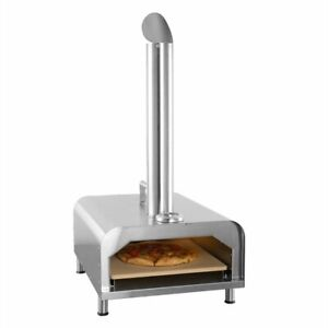 Fremont Wood Pellet Fire Pizza Oven Portable Stainless Steel Frame Rapid Heating