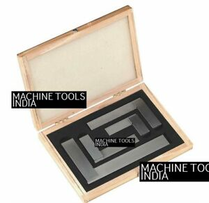 Machinists Hardened Steel Square Set 4 Pc 2 3 4 6 Right Angle