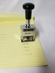Corporate Express Automatic Numbering Machine Chrome 6 Wheels 7 Actions Ceb20013