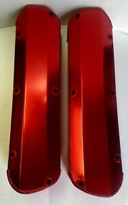 Red Sb Ford Fabricated Aluminum Tall Valve Covers Sbf 289 302 351w