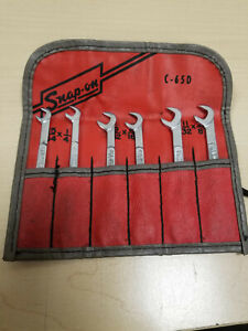 Snap on Snap On C 65d Midget Ignition Wrench Set C65d 6 Wrenches Pouch