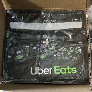 Uber Eats Delivery Insulated Backpack Artist Series Bag sophia In Hand