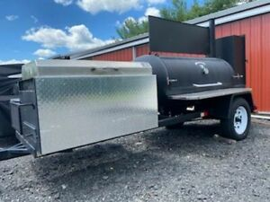 2013 5 X 10 5 Commercial Open Bbq Grill And Smoker Food Trailer For Sale In