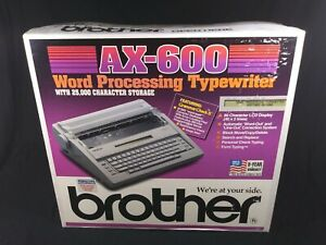 New Brother Ax 600 Electronic Word Processing Typewriter
