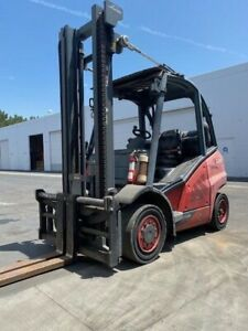 8 000 Lbs Forklift Outside Type Linde H40t 2014 Year