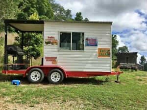 8 X 12 Barbecue Concession Trailer With Porch Mobile Bbq Trailer For Sale In