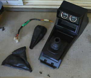 1980 86 Datsun Nissan 720 Pickup Center Shift Console Long Type W Gauges Black