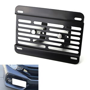 No Drill Front Grille Mesh Mount Licenseplate Relocator For 17 19 Honda Civic Si