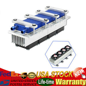 12v 288w 4 Chip Refrigeration Kit Thermoelectric Peltier Air Cooling Decive Usa