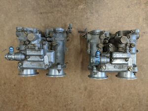 Dual Dellorto Dhla 45 Carbs Dhla45 Side Draft Carburetors Similar To Weber Dcoe