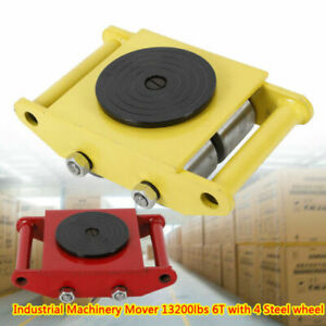 4 Rollers 6t 13200 Lbs Machinery Mover Industrial Dolly Skate Roller Cast Steel