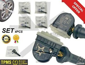 4 Pc Oem Equipment Tpms Tire Pressure Monitoring System 13598771 13598772 Bagged