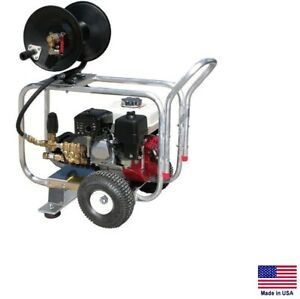 Drain Cleaner Jetter Commercial 3 Gpm 2400 Psi 5 5 Hp Honda Gp Pump