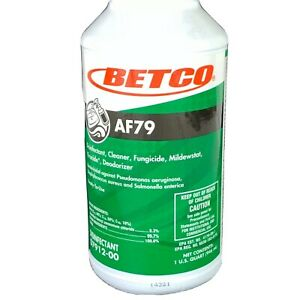 Betco Af79 Disinfectant Cleaner And Deodorant 1qt Lot Of 12 1 Case