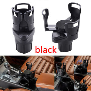 Black Car Center Console Water Drink Dual Cup Holder For Interior Accessories