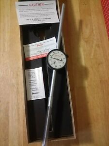 Starrett Dial Indicator 25 5041j Range 0 5 New In Box