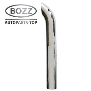 Bozz 6 X48 Od Chrome Curved Stack Pipe