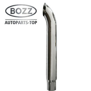 Bozz 6 5 x48 Od Chrome Curved Stack Pipe