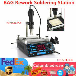Yihua 3 In1 853aaa 110v Bga Rework Soldering Station Solder Iron W Hot Air Gun