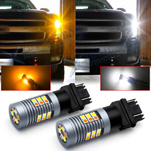 Switchback Led Turn Signal Light Bulbs 3157 For Chevy Silverado 1500 1999 2013
