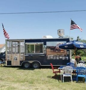 2015 8 X 26 Food Concession Trailer W 6 Screened Porch Pro Kitchen For S