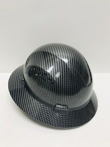 Fiberglass Hard Hat Black silver cool Air Flow With Fas trac Suspension
