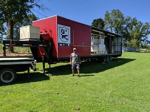 2007 40 Bbq Concession Trailer With Bathroom And Porch Barbecue Rig For Sal
