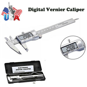 6 0 150mm Digital Stainless Steel Vernier Caliper Gauge Ruler Micrometer Tools