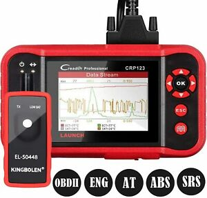 Launch Crp123 Obd2 Scanner Car Engine Abs Srs Transmission Diagnostic Scan Tool