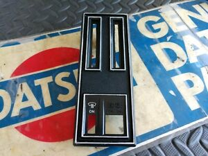 Datsun 240z 70 8 71 Series One Center Console Choke Plate