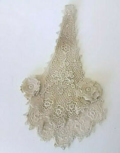 Antique Lace Exquisitely Made Vintage Fabric Jabot 2 Piece Museum Quality