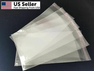 100pcs 4x7 inch Clear Plastic Opp Poly Bags Self Adhesive Peel Seal