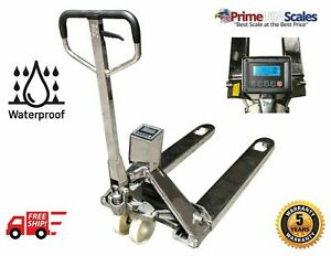 5 Year Warranty Stainless Steel Pallet Jack Scale 3 300 Lb X 1 Lb Printer Ntep