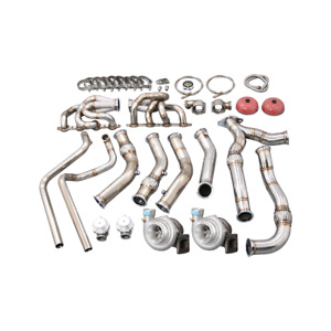 Cxracing Twin Turbo Manifold Headers Kit For 94 04 Chevrolet S10 Ls1 Ls Engine
