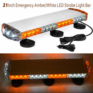 21 Amber white 38w Emergency Led Strobe Led Light Bar Mini Magnetic Roof Mount