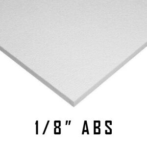 Abs White Plastic Sheet 1 8 X 12 X 12 Vaccum Forming Rc Body Hobby