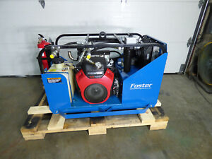 24 Hp Hydraulic Power Supply Gas Engine Portable 3200 Psi 10 Gpm 102 Hours