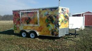 2017 7 X 14 Food Concession Trailer Used Concession Trailer For Sale In Indi