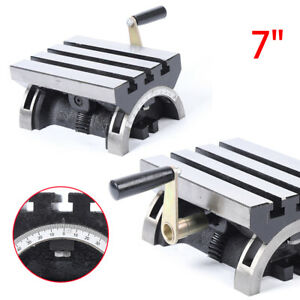 Heavy Duty 7 Adjustable Swivel Angle Plate Tilting Table For Milling Machines