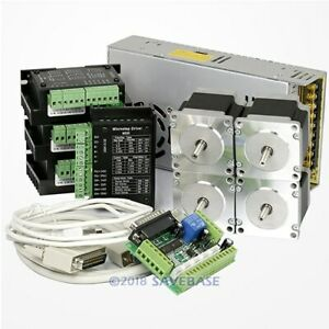 Cnc Kit 4axis Nema23 Stepper Motor M335 Stepper Driver For Mill router engraving