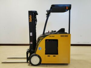 2015 Yale Esc030acn36te082 Electric Narrow Aisle Forklift Forktruck Crown Hyster