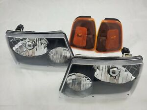 2001 2011 Ford Ranger Direct Replacement Headlight Set Clear Lens