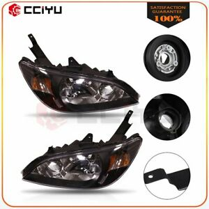 Fits 2004 2005 Honda Civic Headlights Assembly Left Right One Pair Light Pair