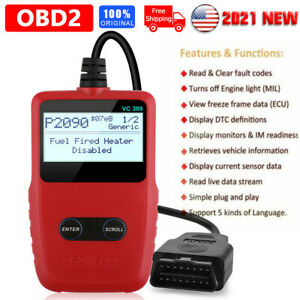Eobd Obdii Car Scanner Code Reader Auto Fault Engine Diagnostic Reset Tool Vc309