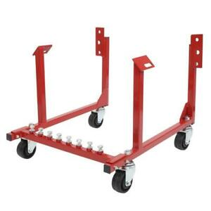 Engine Cradle Stand 1000lbs Dolly For Chevy Chrysler Chevrolet Swivel Wheels Red