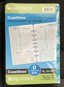 Day timer Coastlines 2020 Daily Monthly Planner 8 5x5 5 Refill 4