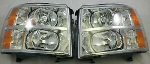 For 2007 2014 Chevrolet Silverado Chevy Direct Replacement Headlight Set